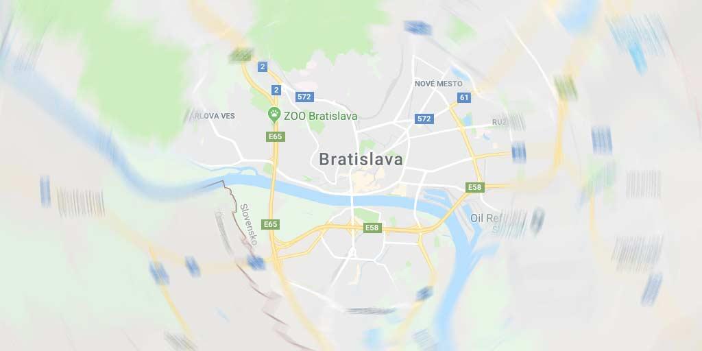 Illustrative Bratislava map, Slovakia