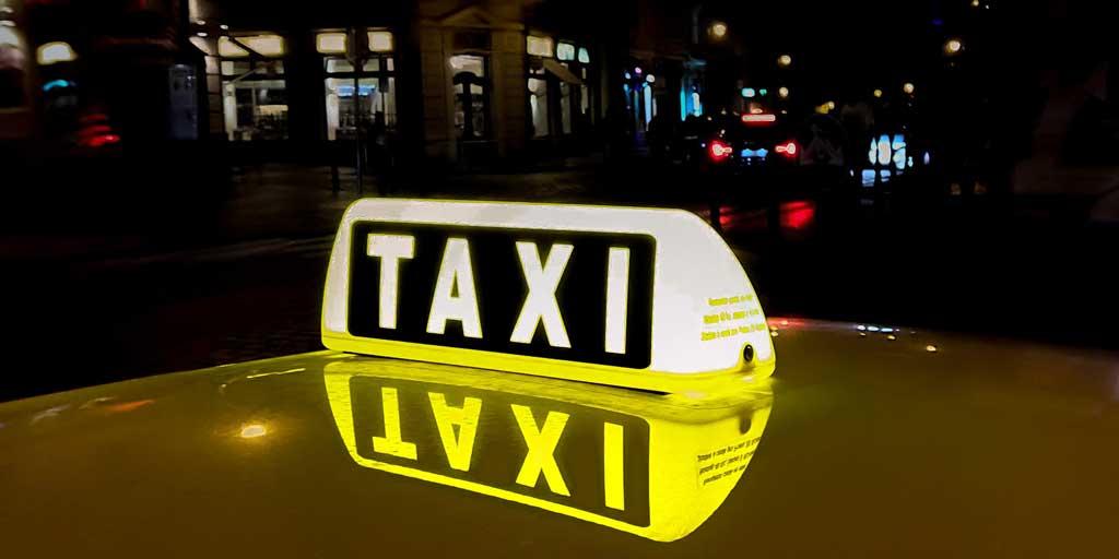Taxi, Taxi sign, Bratislava