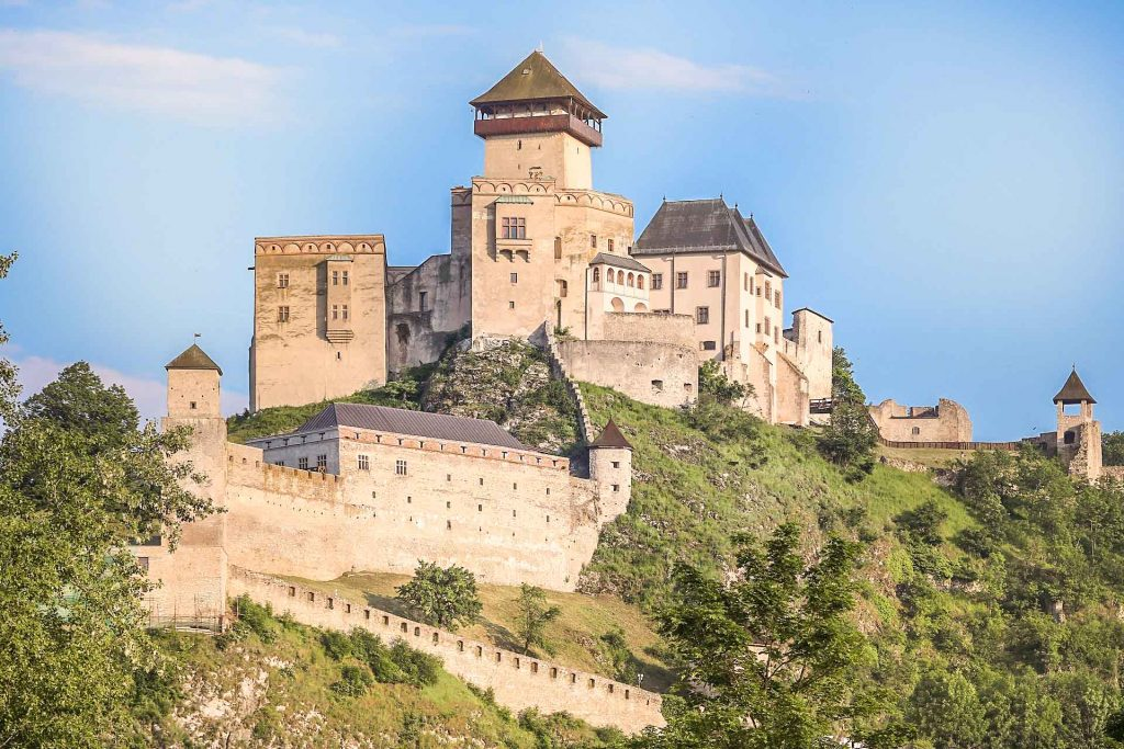 Trencin castle, Slovakia, Author: Ingo Mehling Wikimedia + postprocess VP